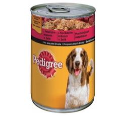 Krmiva - Pedigree konzerva Adult hovězí v želé 400g