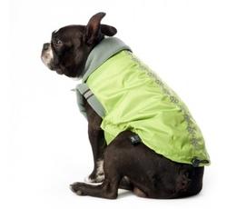 Oblečky, doplňky - Bunda s flízovou podšívkou Kostičky - zelená