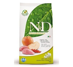 Krmiva - N&D Grain Free DOG Adult Mini Boar & Apple