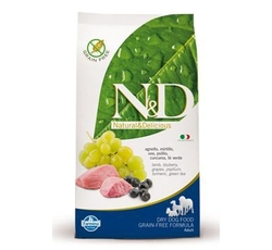 Krmiva - N&D Grain Free DOG Adult Mini Lamb & Blueberry