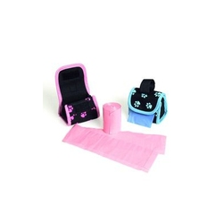 Hygiena - Pouzdro nylon černo-růžový + sáčky KAR 2x20ks