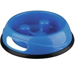 Misky, zásobníky - Miska plast proti hltání 0,45l 20cm TR 1ks