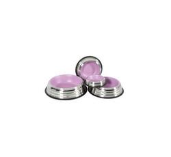 Misky, zásobníky - Miska nerez protiskluz pes MERENDA růžová Zolux