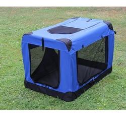Ohrádky, boxy, výstavní stany - 4pet Box Ekonomic - modrý