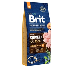 Krmiva - Brit Premium Dog by Nature Adult M (pes 10-25kg)