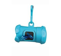 Hygiena - Pouzdro plast +sáčky na psí exkrementy KOST modrá TR