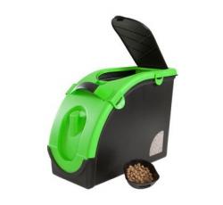 Krmiva - Zásobník na granule pro 13 kg krmiva černo-zelený Mael