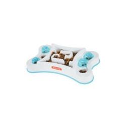 Misky, zásobníky - Miska proti hltání protiskluz obdélník pes 600ml Zolux
