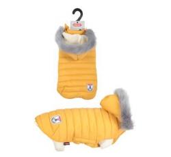 Oblečky, doplňky - Obleček prošívaná bunda pro psy URBAN žlutá