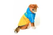 Obleček SPORT Žlutá/Modrá s kapucí 2V1