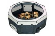 Box sklád. nylon štěně 116x116x48cm grey/black