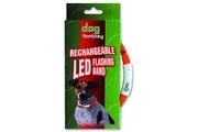Obojek DOG FANTASY světelný USB 45cm