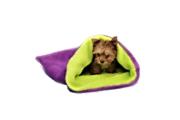 Spací pytel 3v1 MINI pes,kočka č.4 fialová/sv.zelená