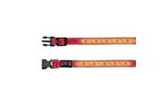 Obojek USB svítící 30-40cm/25mm S-M červený