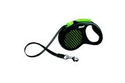 Vodítko FLEXI Design M-L pásek 5m/50kg zelená