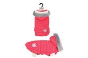 Obleček prošívaná bunda pro psy URBAN červená
