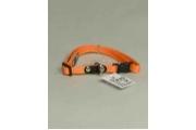 Obojek nylon jednobarevný 20-40cmx10mm Oranžový